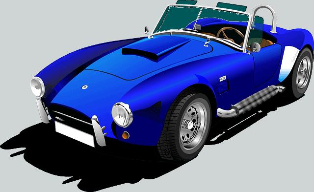 אנימציה של מכונית כחולה